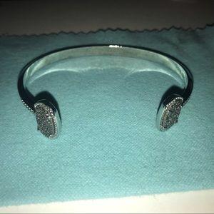Kendra Scott Drusy Silver Cuff Bracelet